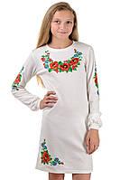 Нарядное платье-вышиванка (белое)