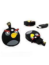 Прикольная флешка Angry Birds black на 8 гб