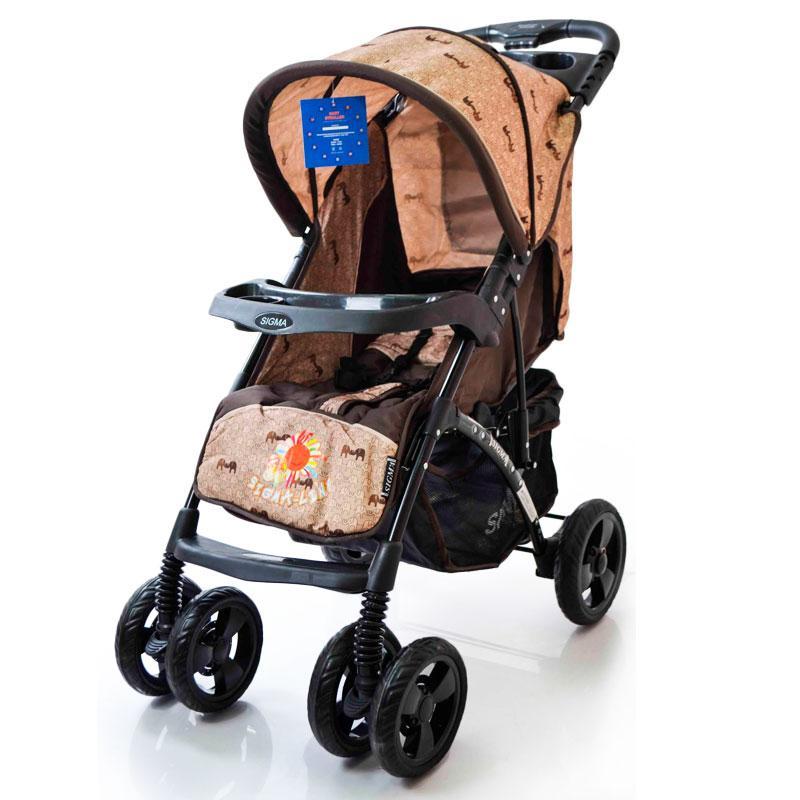 Детская прогулочная коляска книжка  Sigma YK-8F Коричневый