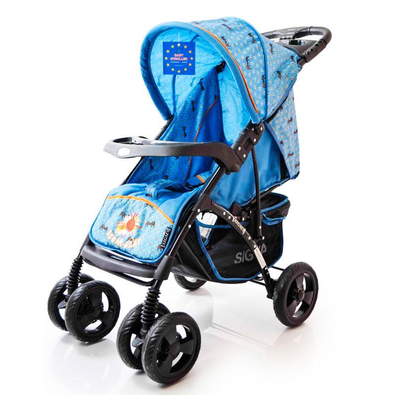 Детская прогулочная коляска книжка  Sigma YK-8F Синий