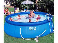 Надувной бассейн Intex 28168 (457х122см)+ фильтр насос+аксессуары