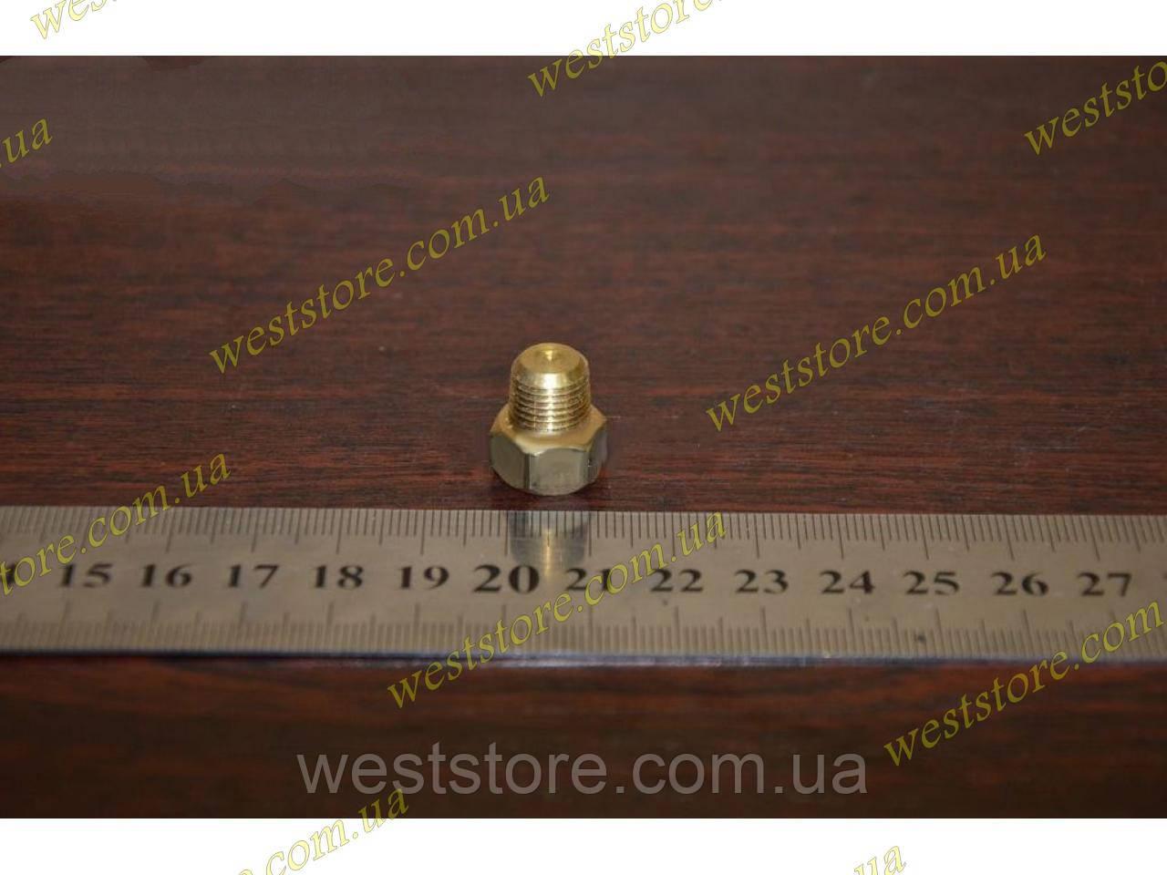 Пробка блока слива тосола ваз 2101 2102 2103 2104 2105 2106 2107  м 10х1 латунь