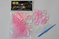 100 штук бледно розовые  резиночек