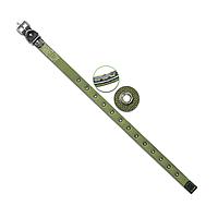Ошейник 20 мм ХБ безразмерный с кожаной подкладкой