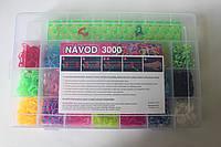 Набор для плетения браслетов из 3000 резиночек Loom Bands, фото 1