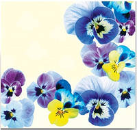 Салфетка столовая La Fleur Анютки 20шт/уп