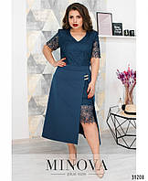 Женское красивое платье №347(р.52-58) Синий, фото 1