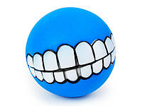 Мячик для собак Улыбка  Синий