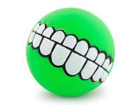 Мячик для собак Улыбка  Зеленый