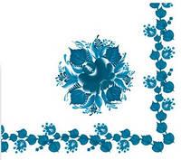 Салфетка столовая La Fleur Голубой цветок 20шт/уп