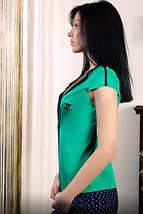 """Стильный женский деловой пиджак """"Hero"""" с коротким рукавом и кожаным воротником (7 цветов), фото 2"""