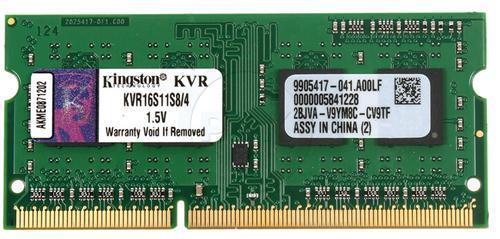 SO-DIMM 4GB/1600 DDR3 Kingston ValueRAM (KVR16S11S8/4)