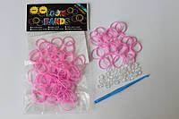 100 штук нежно розовых резиночек
