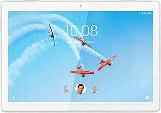 Планшетный ПК Lenovo Tab M10 TB-X605L 32GB 4G Polar White (ZA490104UA), 10.1 (1920х1200) IPS / Qualcomm Snapdragon 450 / ОЗУ 3 ГБ / 32 ГБ встроенная +