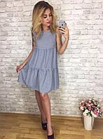 Женское легкое летнее платье крестьянка