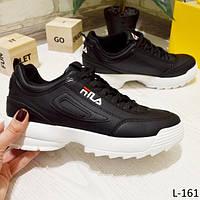 24 см Кроссовки женские черные на подошве, фото 1