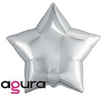 Фольгированный шар звезда Agura (Агура) серебристая, 50 см (20')