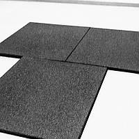 Резиновая плитка 500х500х20 черная, фото 1