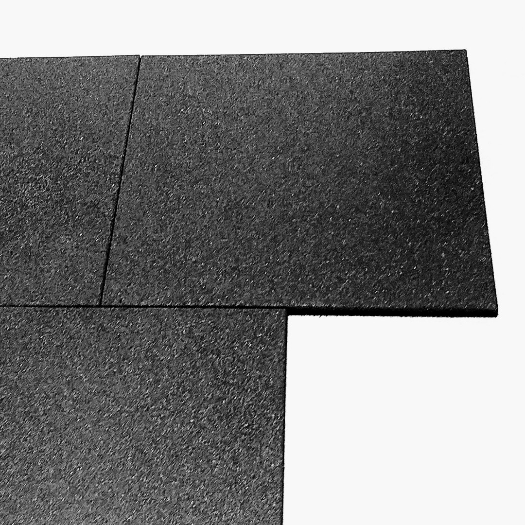 Резиновая плитка 500х500х30 черная