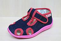 Тапочки в садик на девочку, мальчик, текстильная обувь Vitaliya Виталия Украина, размеры 23,26,27