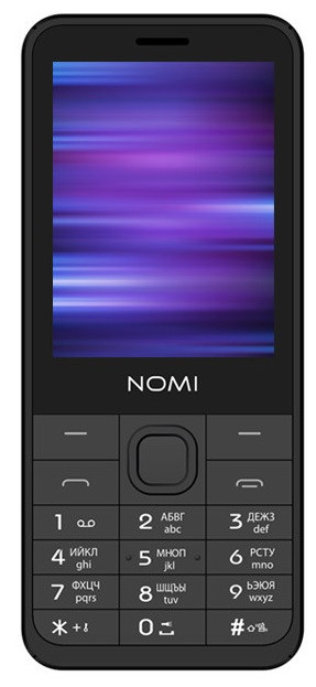 Мобильный телефон Nomi i282 Dual Sim Grey, 2.8 (320x240) TN / клавиатурный моноблок / ОЗУ 32 МБ / 32 МБ встроенной + microSD / камера 2 Мп / 2G (GSM)