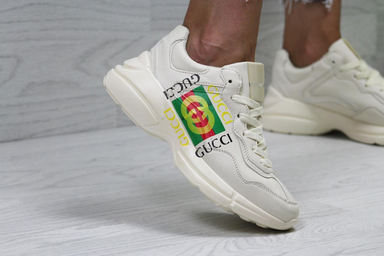 b2b0278b0 Женские кроссовки в стиле Gucci, бежевые , цена 1 190 грн., купить в ...