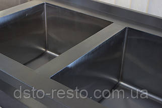 Ванна моечная 3-х секционная 1400/600/850 мм, фото 3