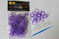 100 штук  фиолетовых резиночек