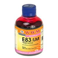 Чернила WWM для EPSON Stylus Photo R270/P50/R290/RX615/T50/TX650 (Light Magenta) E83/LM 200г