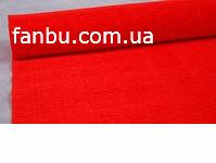 Креп бумага  ярко красная №580