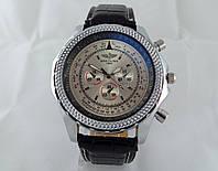 Мужские часы BREITLING кварцевые, серебристый циферблат, корпус в серебристом цвете