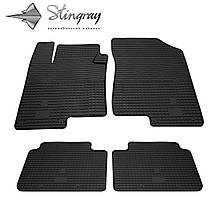 Kia Optima 2012- Комплект из 4-х ковриков Черный в салон