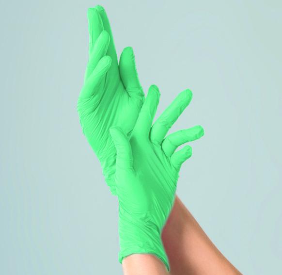 Перчатки нитриловые зеленая мята 100 шт