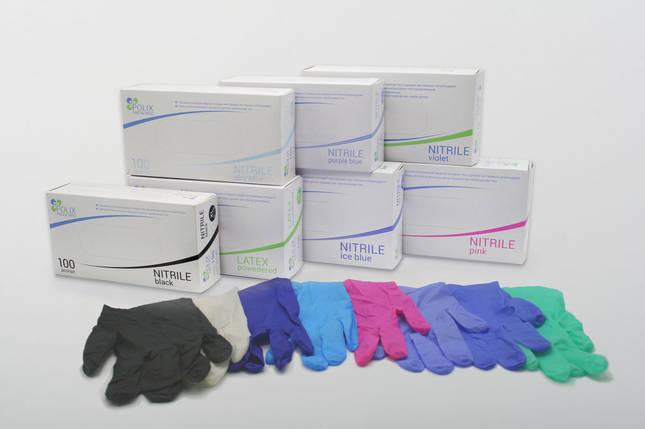 Перчатки нитриловые зеленая мята 100 шт, фото 2