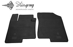 Kia Optima  2012- Комплект из 2-х ковриков Черный в салон