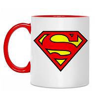 Чашка цветная внутри Superman