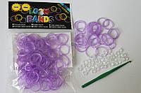 100 штук неоновых фиолетовых резиночек