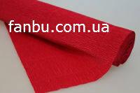 Креп бумага красная №582