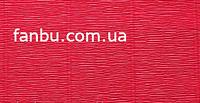 Креп бумага красная с легким оттенком малинового №582,производство Италия