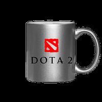 Чашка серебро/золото Dota 2