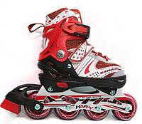 Роликовые коньки ролики раздвижные детские размер 29-33, 34-38, 39-42 красные