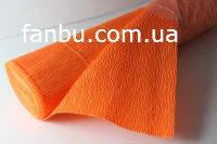 Креп бумага оранжевая №581,производство Италия, фото 1