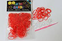 100 штук  красных резиночек
