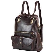 Рюкзак женский кожаний LASKARA (ЛАСКАРА) LK-DM229-dark-bordeaux, фото 2
