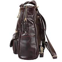 Рюкзак женский кожаний LASKARA (ЛАСКАРА) LK-DM229-dark-bordeaux, фото 3