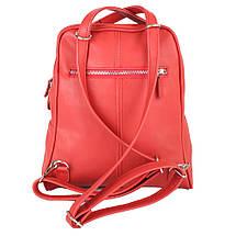 Рюкзак женский кожаний LASKARA (ЛАСКАРА) LK-DM229-red, фото 2