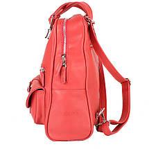 Рюкзак женский кожаний LASKARA (ЛАСКАРА) LK-DM229-red, фото 3