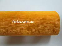 Креп бумага темно желтая №576