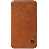 Кожаный чехол Nillkin Qin для Sony Xperia E4 коричневый, фото 1