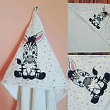 Детское именное  махровое полотенце - уголок, фото 5